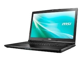 MSI CX72 Core i5-7200U 2.5GHz 8GB 256GB DVD SM ac BT WC 6C 940MX 17.3 HD W10P, CX72026, 33589982, Notebooks