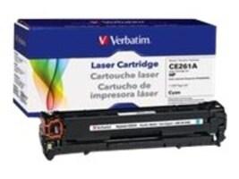 Verbatim CE261A Cyan Toner Cartridge for HP LaserJet CP4025 & CP4525, 98339, 16248094, Toner and Imaging Components