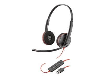 Plantronics BlackWire C3220 USB-A Headset, 209745-101, 34770388, Headsets (w/ microphone)