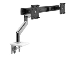 Humanscale M10 with Dual Monitor Support, Clamp Mount, Aluminum White, M10CMWB2B-IND, 36933339, Stands & Mounts - Desktop Monitors