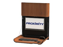 Proximity Classic Series Wall-Mounted Slim Workstation, Wild Cherry, CXT-6001-7054, 33055260, Wall Stations