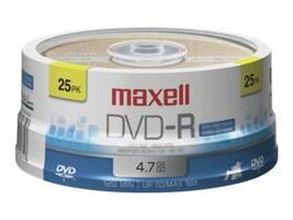 Maxell 25PK DVD-R 4.7GB MAXELL BRANDE, 638010, 41048784, CD Media