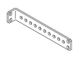 Chatsworth Stand-Off Tie-Down 'L' Bracket, Aluminum, Clear, 10559-500, 12171801, Rack Cable Management