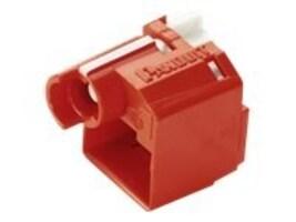 Panduit RJ45 Plug Lock-In Device, Red, 10-Pack, PSL-DCPLX, 16466788, Premise Wiring Equipment