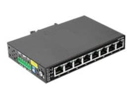Siig CyberX Industrial 8-Port PoE+ Gigabit Ethernet Switch with 8x High-Power PSE Ports, ID-SW0011-S1, 14951173, Network Switches