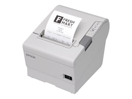 Epson TM-T88V USB Serial POS Printer - Cool White w  PS180 Power Supply, C31CA85014, 11677025, Printers - POS Receipt