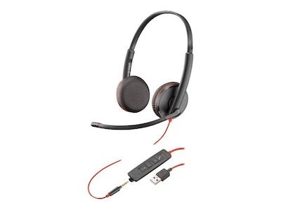 Plantronics BlackWire C3225 USB-A Headset, 209747-101, 34770425, Headsets (w/ microphone)