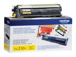 Brother Yellow TN210Y Toner Cartridge, TN210Y, 10344616, Toner and Imaging Components