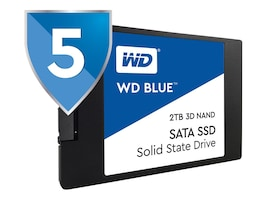 WD 1TB WD Blue SATA 6Gb s 3D NAND 2.5 7mm Internal Solid State Drive, WDS100T2B0A, 34584841, Solid State Drives - Internal