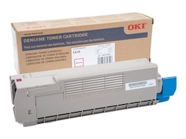 Oki Magenta Toner Cartridge for C610 Series Printers, 44315302, 11475651, Toner and Imaging Components - OEM