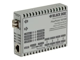 Black Box FLEXPOINT MODULAR 10 100 RATE CONVERTER, LMC100A-LC-R2, 33002539, Network Transceivers
