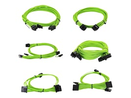 eVGA G2 G3 P2 T2 Green Power Supply Cable Set, 100-G2-13GG-B9, 33958346, Cables