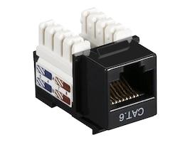 Black Box Cat6 Keystone Jack, Black, 10-Pack, CAT6J-BK-10PAK, 12497245, Premise Wiring Equipment