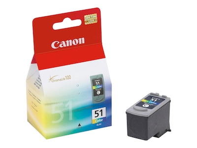 Canon Color CL-51 High Capacity FINE Ink Cartridge, 0618B002, 6171265, Ink Cartridges & Ink Refill Kits - OEM