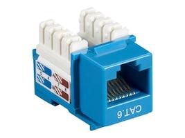 Black Box Cat6 Keystone Jack, Blue, 25-Pack, CAT6J-BL-25PAK, 10898141, Premise Wiring Equipment