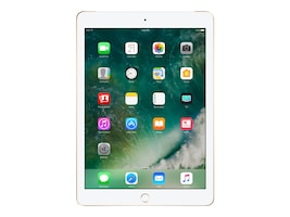 Apple iPad 128GB, Wi-Fi+Cellular for Apple SIM, Gold, MPGC2LL/A, 33870723, Tablets - iPad