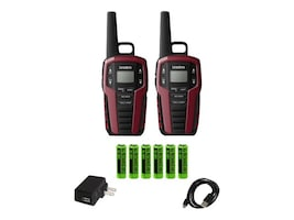 Uniden GMRS FRS 32-Mile Two Way Radio w  121 Privacy Codes, Weather Alert & Charging Cradle, SX327-2CK, 34077170, Two-Way Radios
