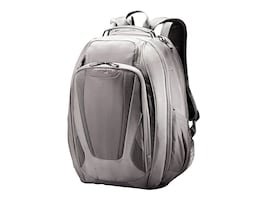 Stephen Gould Viz Air Backpack 15.6, Gray w  Smoke Trim, 66256-1408, 30846138, Carrying Cases - Notebook