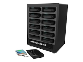 ChargeTech CHARGETECH PORTABLE BATTERY CHARGING STATION 12. INCL. 12 BATTERY PACK, CT-300041, 37259569, Power Strips