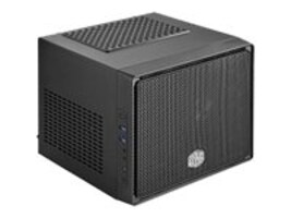 Cooler Master Chassis, Elite 110 Mini-ITX 3x3.5 Bays 2xSlots 1xFan, Black, RC-110-KKN2, 16723692, Cases - Systems/Servers