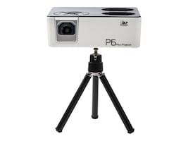 Aaxa P6 WXGA Portable LED Projector, 600 Lumens, White Gray, KP-850-01, 35528420, Projectors