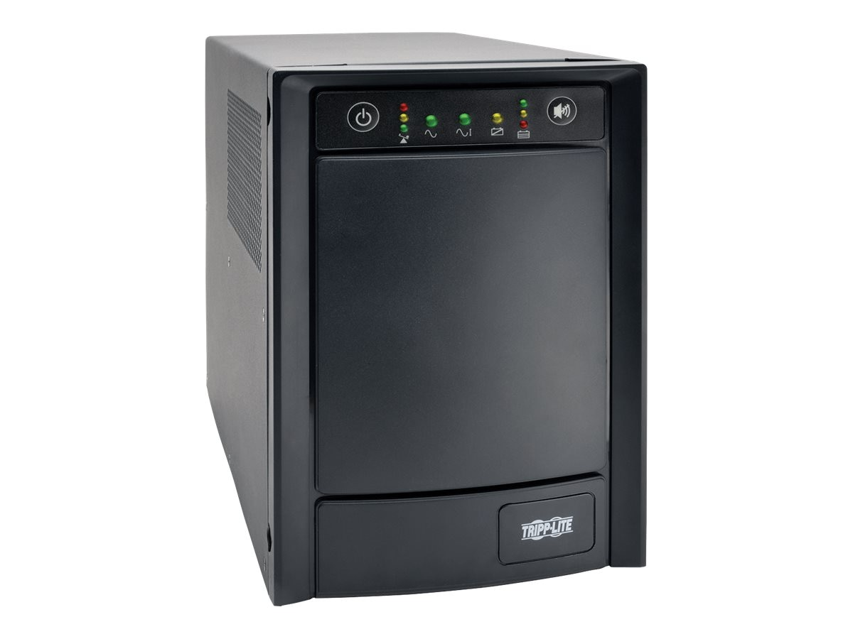 Tripp Lite SmartPro 1kVA 650W 120V Line Interactive Sine Wave Tower UPS, (8) Outlets, SMC1000T, 21982832, Battery Backup/UPS