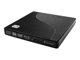 I O Magic 8x Slim External Blu-Ray Read Write USB 2.0 Drive - Black, IBD1PE2, 33248686, Blu-Ray Drives - External