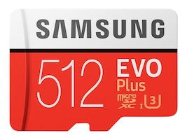 Samsung 512GB EVO Plus MicroSDXC Memory Card with SD Adapter, MB-MC512GA/AM, 36632481, Memory - Flash