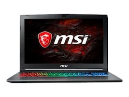 MSI GF62 7RE-1452 Core i7-7700HQ 16GB 1TB GTX1050TI 15.6 W10, GF621452, 34224993, Notebooks