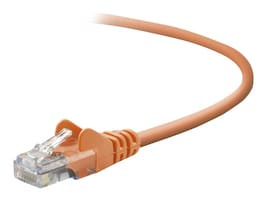 Belkin Cat5e Patch Cable, Orange, 3ft, Snagless, A3L791-03-ORG-S, 40803, Cables