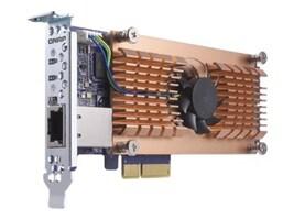 Qnap DUAL M.2 22110 2280 PCIE SSD & INT SINGLE 10GBASE-T 10GBE NTWK TS-X53B, QM2-2P10G1T, 34724736, Solid State Drives - Internal