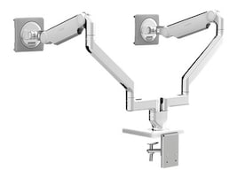 Humanscale M2.1 with Dual Monitor Support, Clamp Mount, Aluminum White, X22CMWMTBMTB, 36203985, Stands & Mounts - Desktop Monitors