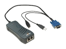 Lantronix SecureLinx 1-Port USB Remote KVM, KVM IP Spider, SLS200USB0-01, 7542355, KVM Switches