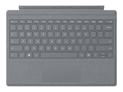 Microsoft Surface Pro 7 Signature Type Cover, Light Charcoal, FFQ-00141, 37704298, Keyboards & Keypads