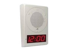 CyberData Wall Mount Clock Kit, Gray White, 011153, 16178356, Stands & Mounts - Desktop Monitors