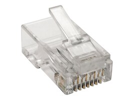 Tripp Lite Cat6 RJ45 Modular Plug for Round Stranded UTP Conductor 4-Pair, 100-Pack, N230-100-STR, 35119722, Cable Accessories