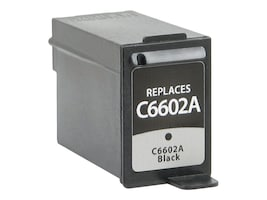 V7 C6602A Black Thermal Ink Cartridge for HP, V7C6602A, 18442659, Ink Cartridges & Ink Refill Kits