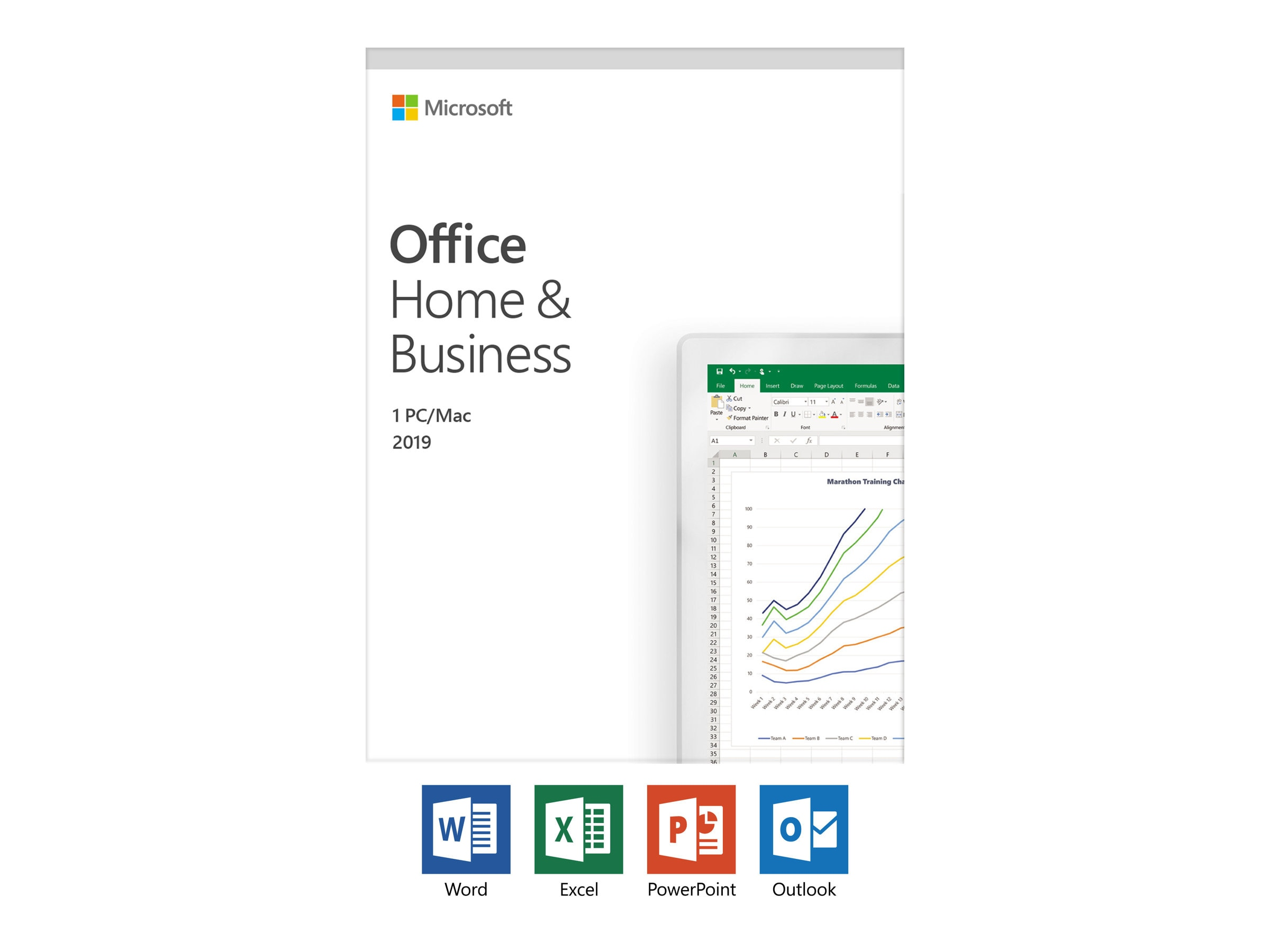 Microsoft Office Home and Business 2019 Medialess English NA PR TT Only