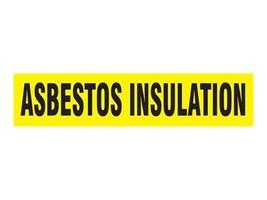 Panduit Self Stick Pipe Marker, Asbestos Insulation, Yellow, Size D, PPMA1049D, 36029391, Tools & Hardware