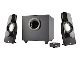 Cyber Acoustics Curve Series Control Pod Subwoofer 2.1 Powered Speaker System, CA-3350, 29489196, Speakers - Audio