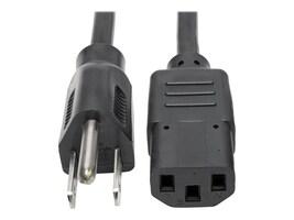 Tripp Lite Power Cord NEMA 5-15P to IEC-320 C13, 125V 10A, SJT, 18AWG, 15ft, P006-015, 15272421, Power Cords