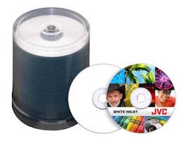 Microboards JVC 52x 80min White Inkjet Printable CD-R Media (600-pack), JCDR-WPY-SB, 11703844, CD Media