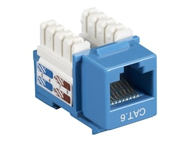 Black Box Cat6 Keystone Jack, Blue, 10-Pack, CAT6J-BL-10PAK, 12497261, Premise Wiring Equipment