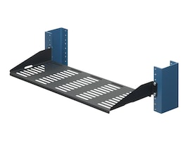 Innovation First 7 Relay Rack Shelf, Vented Surface Stiffeners Bent Up, 30lb. Capacity, 1USHL-022HALF-7UV, 5513745, Rack Mount Accessories
