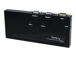 StarTech.com 2-Port High Resolution VGA Video Splitter, 350MHz, ST122PRO, 203730, Video Extenders & Splitters