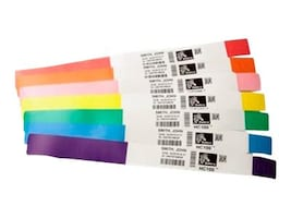 Zebra 1 x 11 Z-Band Direct Adult White Wristbands (6 Rolls 200 Bands-per-Roll), 10006995K, 8714585, Paper, Labels & Other Print Media