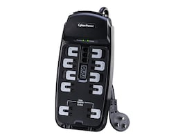 CyberPower Professional Series Surge Suppressor 2850 Joules, (10) Outlets, 8ft Cord, CSP1008T, 14249931, Surge Suppressors