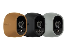 Netgear Arlo Replaceable Multi-colored Silicone Skins, Brown Black Gray, 3-Pack, VMA1200D-10000S, 31931465, Camera & Camcorder Accessories