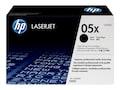 HP 05X (CE505X) High Yield Black Original LaserJet Toner Cartridge, CE505X, 8929033, Toner and Imaging Components