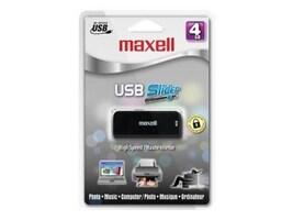 Maxell 4GB USB BLACK SLIDER USB-204BK, 503101, 41136761, Flash Drives